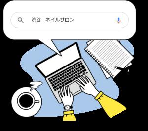 エリアと業種のワードでGoogle検索をしてMEOを確認